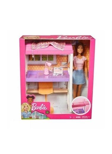 Barbie Barbie Bebek Ve Oda Setleri Çalişma Masasi Dvx51-Fxg52 Renkli